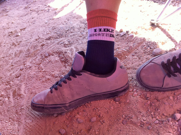 Yeah, that's right, those are Sh*tbike socks. Self-aggrandizing? Ask us if we give a sh*t.