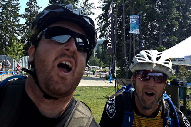 Team Sad Sacks might have finished the BC Bike Race, but they still failed their IQ tests.