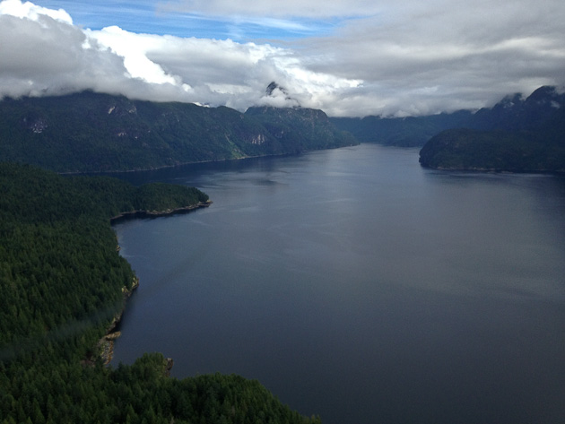 5)Beautiful British Columbia, as seen from a float plane by a couple of VIPs.