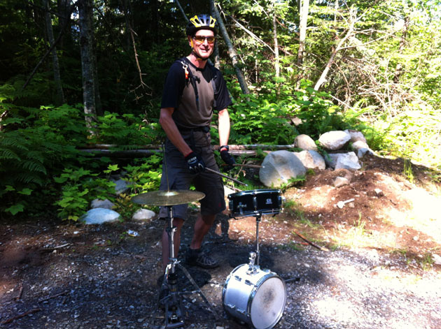 Everyone can use a bit of trailside drumming to help find their rhythm.