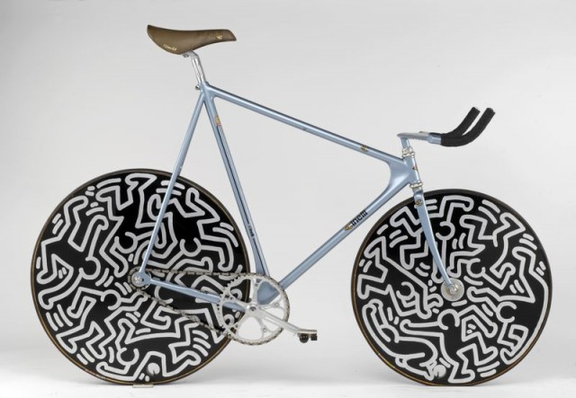 The Laser painted by Keith Haring, 1986.
