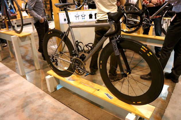 Oodles of titanium and carbon meant speed was in no short supply at the Mosaic Cycles display.