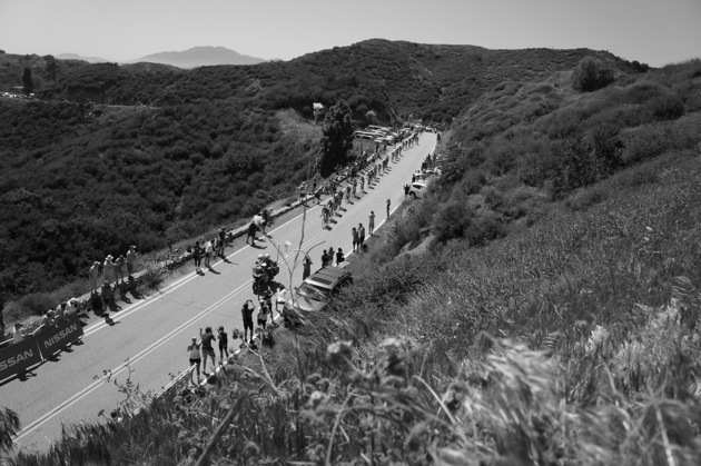 Racers make their way up Glendora Ridge Road on their way to the Mt. Baldy finish in the 2012 edition.