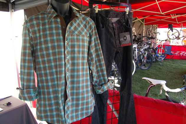 Club Ride's Jack flannel riding shirt and Woody jeans.