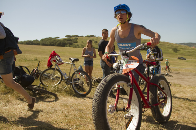 One man. One fat bike. One mission to shame each and every other bike at Sea Otter.