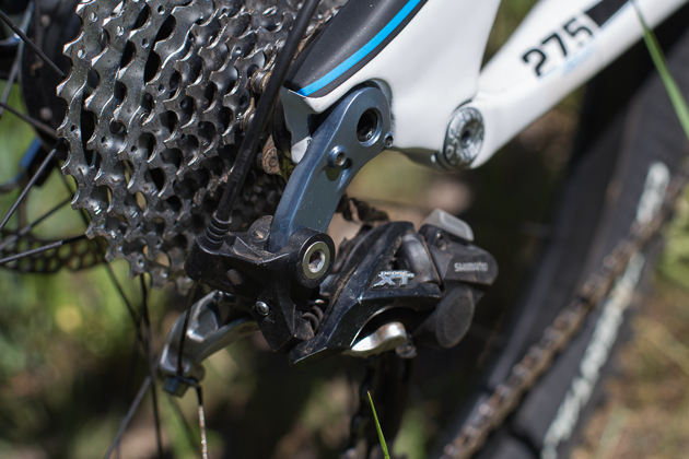 The Force allows for a direct mount rear derailleur. Nice.