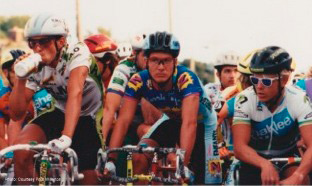 Marcel Wüst, Willerton and Bob Mionske ride together during Superweek in 1991.