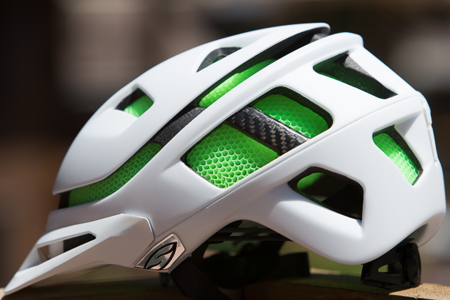Smith's Aerocore construction uses a tubular material rather than foam, creating a lighter, more ventilated helmet.