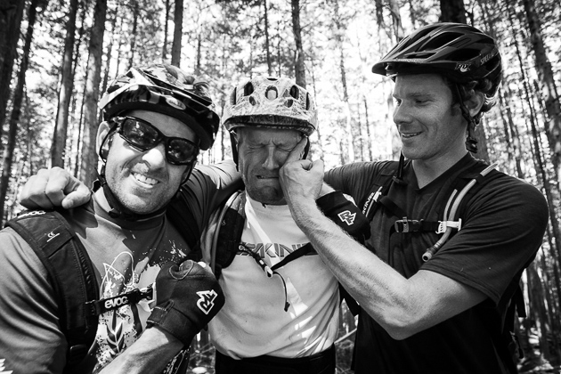 Wade Simmons and Matt Hunter were obviously unhappy with the climbing pace set by Wittenburg. Photo: David Reddick