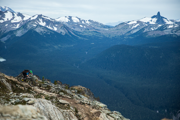 Dropping in to Whistler's Top of The World Trail