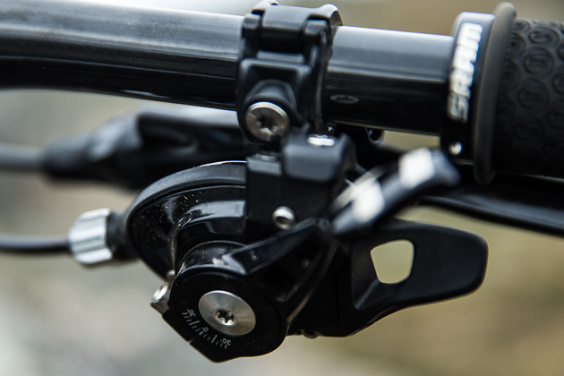 The feel of the X01 shifter is very similar to XX1, but the low lever angle adjustment is slightly different. While the XX1 shifter uses a wedge to clamp the lever, the X01 uses the traditional X0 pinch bolt. But that's all pretty negligible.