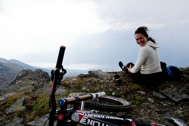 Deb, suiting up at the peak, got Kelli into racing bikes and was also on-hand to help her celebrate her big 4-0.