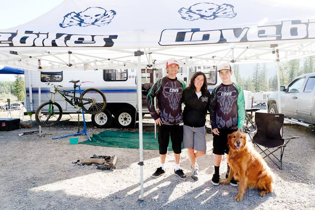 Colin, Marilee and Jake at the Fernie BC Cup; racing has strengthen their family bond.