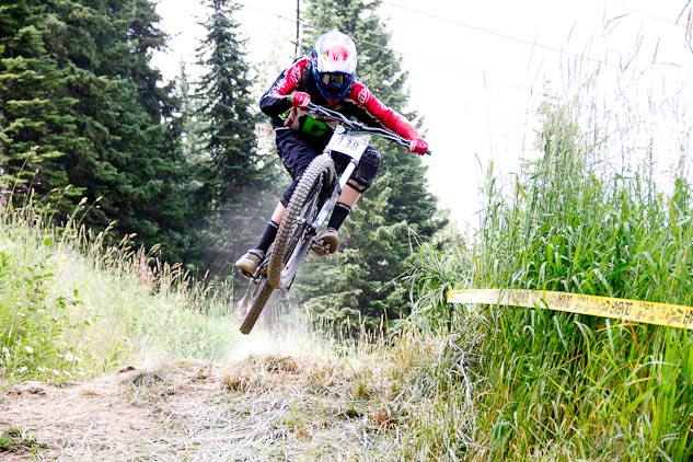Nic styling it out during his race run at the Western Open BC Cup in Golden.