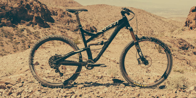 Yeti's new 27.5-inch bike couldn't have cared less about the 100-plus-degree temperatures in Bootleg Canyon's desolate dust bowls.