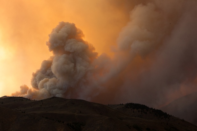 Looking into Greenhorn Gulch, One of the hottest fires in recorded history sent plumes of flames hundreds of feet into the air.