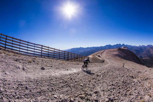 The famous Kamikaze course starting at the 11,053-foot summit of Mammoth Mountain was in the spotlight once again during the recent Kamikaze Bike Games.