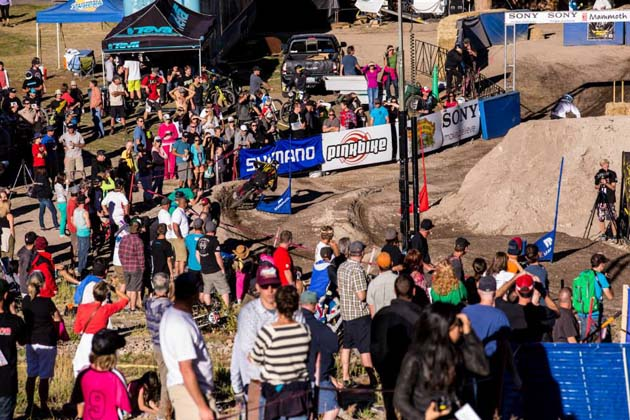 The dual slalom competition during the Kamikaze Bike Games brought out a decent sized crowd. Execs at Mammoth hope more mountain bike races and competitions will help Mammoth once again become a household name.