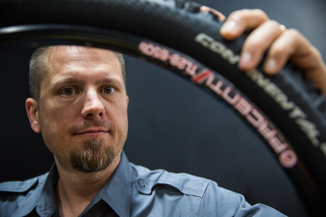 Kirk Pacenti never gave up on his idea for 27.5-inch mountain-bike wheels despite the many years it took for the industry to widely accept the concept. Photo by Dan Barham