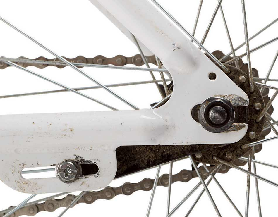 One gear and a coaster brake--the Klunker ain't for sissies.