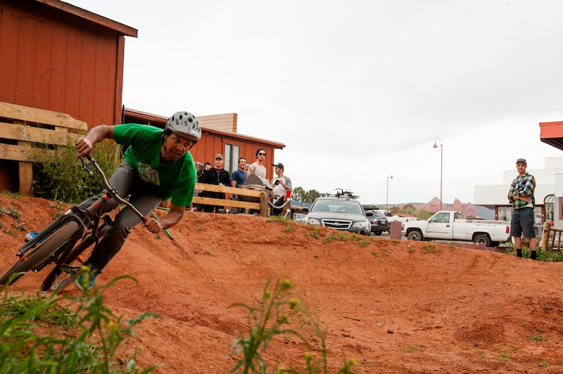 The backyard scene of Over The Edge shop is worth a stop. Relaxing beers and burgers, washed down with a lap of the pumptrack. This makes it not only a shop, but a community cornerstone.