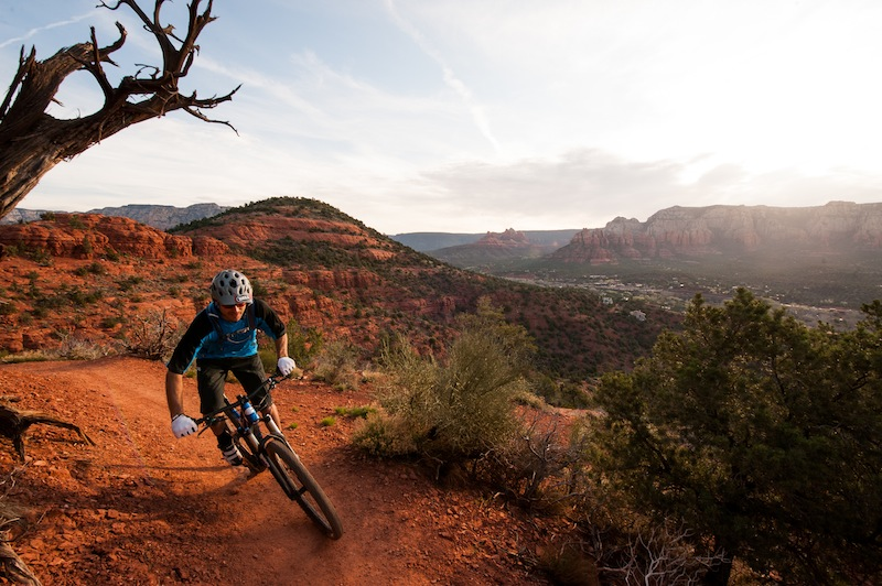 Jason First gets his morning meditation on the trails of Sedona
