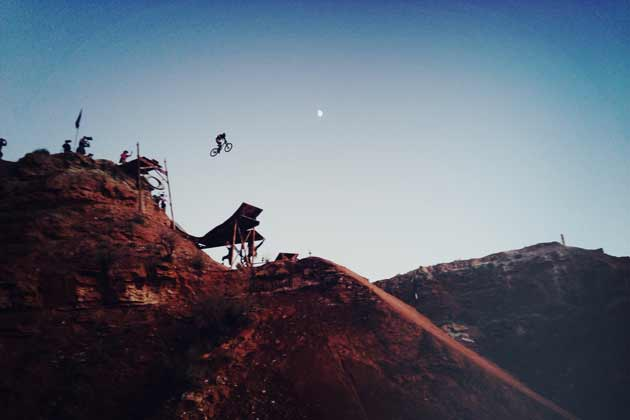 Cam Zink hits the Big Girl on the Oakley Sender for the first time during practice.