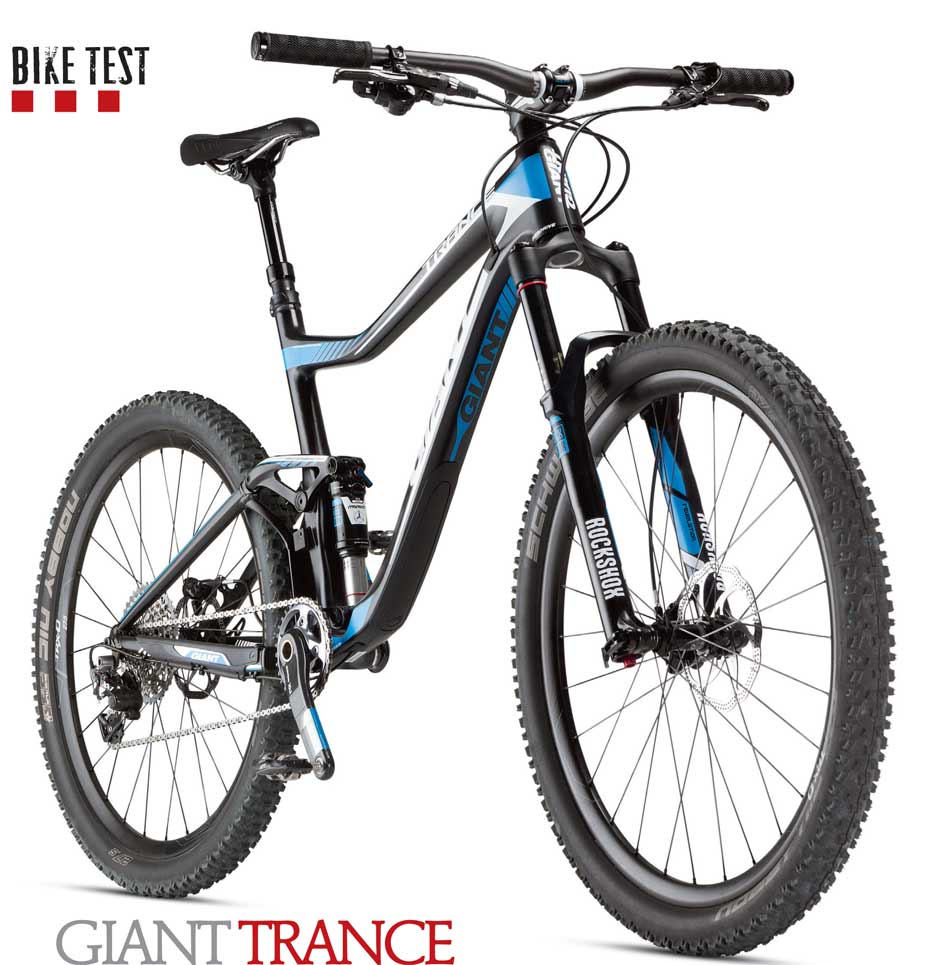 The new Giant Trance Advanced 27.5 0--the company's do -it-all rig--we put two testers on the bike and got their feedback on whether Giant's foray into 650b land was any more successful than their 29er trip. This issue is packed with great bike reviews of more rigs from the likes of Evil, Yeti, Trek and Specialized.