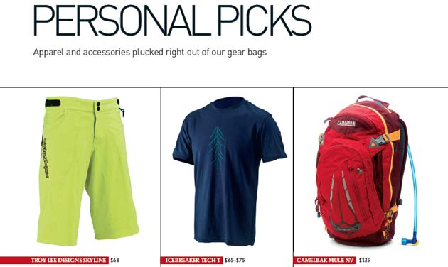 Just a few of our Editor's Personal Picks--some of the gear that particularly impressed us in 2013.