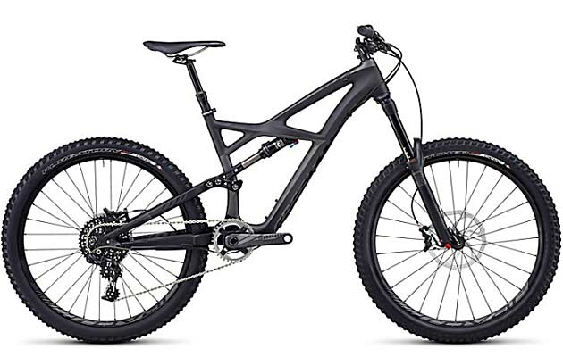 The Enduro Expert Carbon is back in black for 2014...or back in grey (though that doesn't sound nearly as cool). It sports the same basic frame as the 2013 model tested here, but is equipped with the excellent RockShox Pike and SRAM's X01 single-ring drivetrain and can be had in both 26er and 29er versions. Can't afford the carbon models? Specialized's base-level Enduro Comps (26 and 29) sport aluminum frames and sell for $3,500 in 2014.