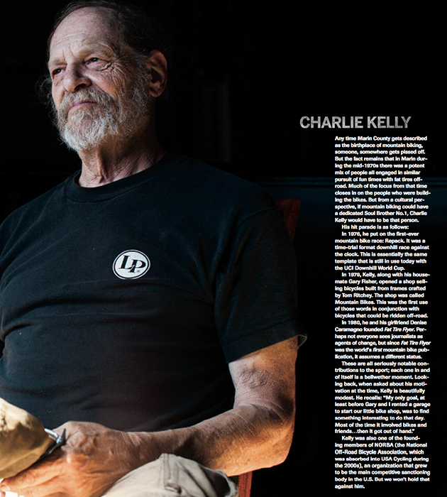 "This story on Charlie Kelly appeared in BIKE's 20th Anniversary Issue in a collection of profiles by Mike Ferrentino called, ""Measurable Impacts."" PHOTO: Paige Green"