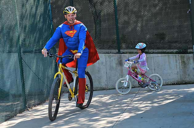 Scott 'Superman Scud' Scudamore had a knack for hooking new riders on cycling with his 'Man of Steel' alter ego.