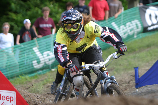 Sher was a natural when she started her downhill racing career, and rose to national champion in 2002.