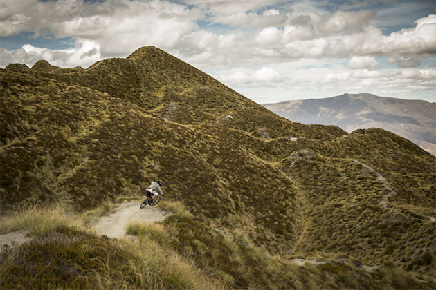 Coronet Peak provided an afternoon of high speed berms and full fury pedal stroke corner exits. A good time to challenge the drivetrain. PHOTO: Adrian Marcoux