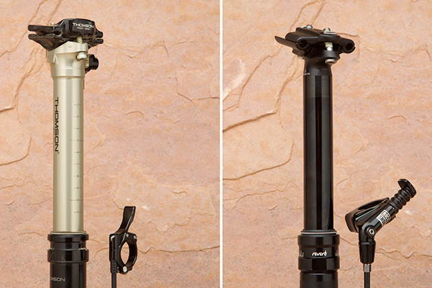 Pictured: Thomson Elite Dropper (left) and RockShox Reverb Stealth (right).