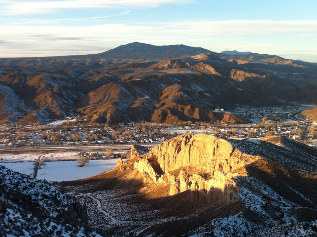 Caliente sits at 4,400 feet in the middle of the barren, Nevada desert, two hours northeast of Las Vegas.