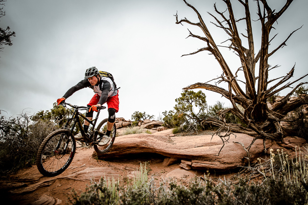 One of our favorite pro riders, Kyle Strait shows us how to ride Captain Ahab in Moab. Photo: Adrian Marcoux