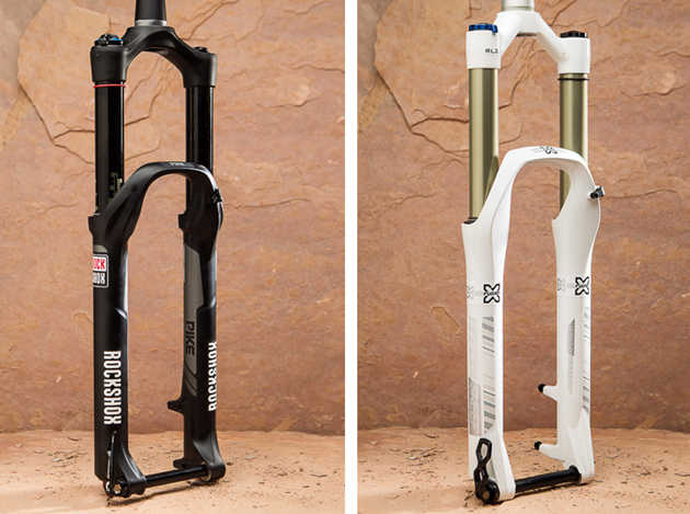 Pictured: RockShox Pike RCT3 (left) and X-Fusion Shox Sweep RL2 27.5