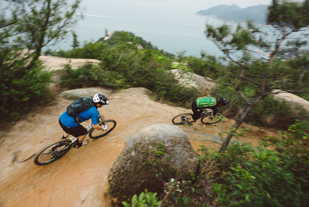 There is no shortage of sublime singletrack on Lantau Island's classic Chi Ma Wan trail, as Milutin as Frenchman Pierre-Arnaud Le Magnan know very well.