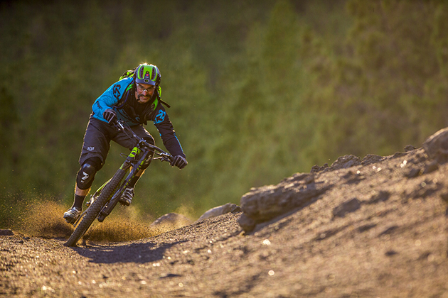 Mark Weir might have broken his sacrum, shattered his pelvis and fractured the base of his spine, but never mind that, he'll be back racing enduro this summer. And for the first time ever, he'll be racing on a Lefty. PHOTO: Courtesy Cannondale