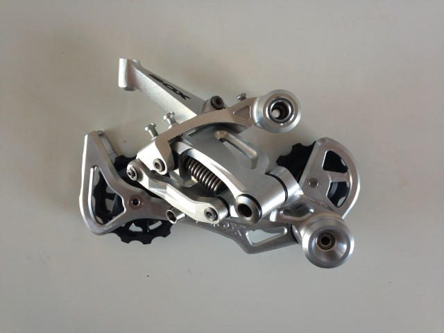 Box's prototype derailleur that will be paired with a 11-42 cassette.