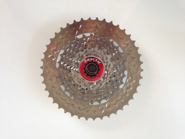 The 11-42, 10-speed cassette is part of Box's one-by drivetrain in development.