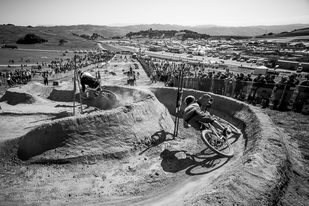 The last big banks on the course's top section left racers with a view of the awkward, high-speed-ricochet berms that would make or break a winning run—no matter how strong the effort at the top.
