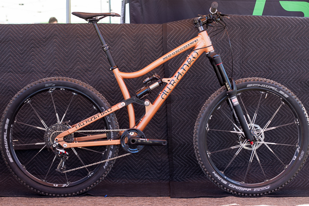 Handmade in one of the country's most prolific mountain bike towns, Durango Bike Company's Moonshine is built by riders, for riders. Their 160-millimeter all-mountain model uses a Horst Link platform and like all Durango Bike Company's models, is built to order. Pricing ranges from $5,500-6,500, depending on the build kit.