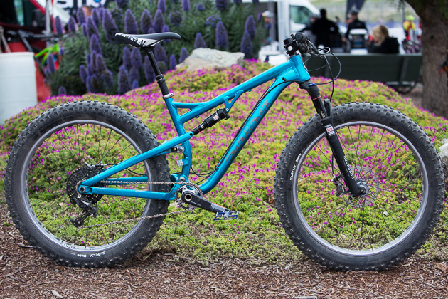 This year's Sea Otter was saturated with fatbikes, but none impressed us as much as the new Salsa Bucksaw. This full suspension rock crawler is faster than it looks. Featuring efficient Split Pivot suspension and the new Rock Shox Bluto fork, the Bucksaw is ready for adventure. Available this fall. Price ranges from $4,000-5,000.