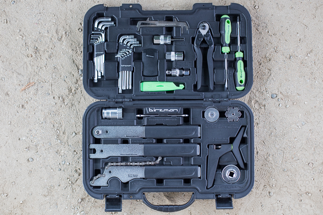 For $230, the Travel Tool Box includes 20 pieces, enough to work on most modern bikes.
