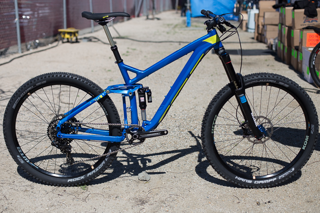 The new 650b Felt Compulsion 10 features 160 millimeters of travel, an English threaded 73-millimeter bottom bracket and aggressive geometry designed for all-mountain riding. Price is yet to be finalized, but it'll be between $5,000 and $5,500. Photo: Ryan Palmer
