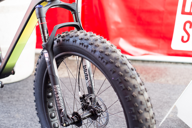 It was only a matter of time before RockShox came out with a fatbike-specific fork. Here is the Bluto. It's available June in 80-, 100- and 120-millimeter options for $645. Photo: Ryan Palmer