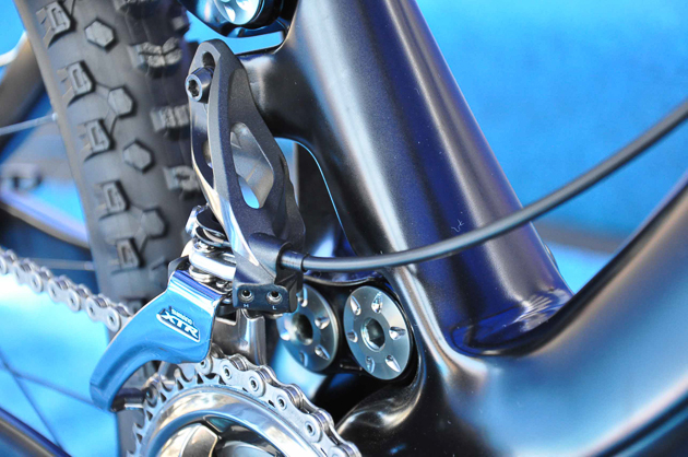 The front derailleur sees a huge shift in direction