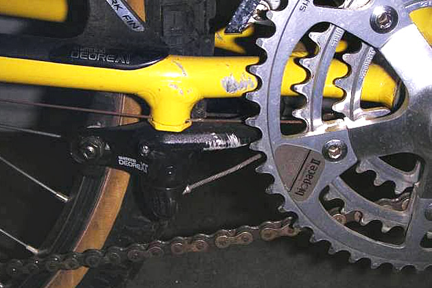 U-brakes...Heavy, spongy and great at collecting mud. Not so good, unfortunately, for doing the whole stopping your bike thing.